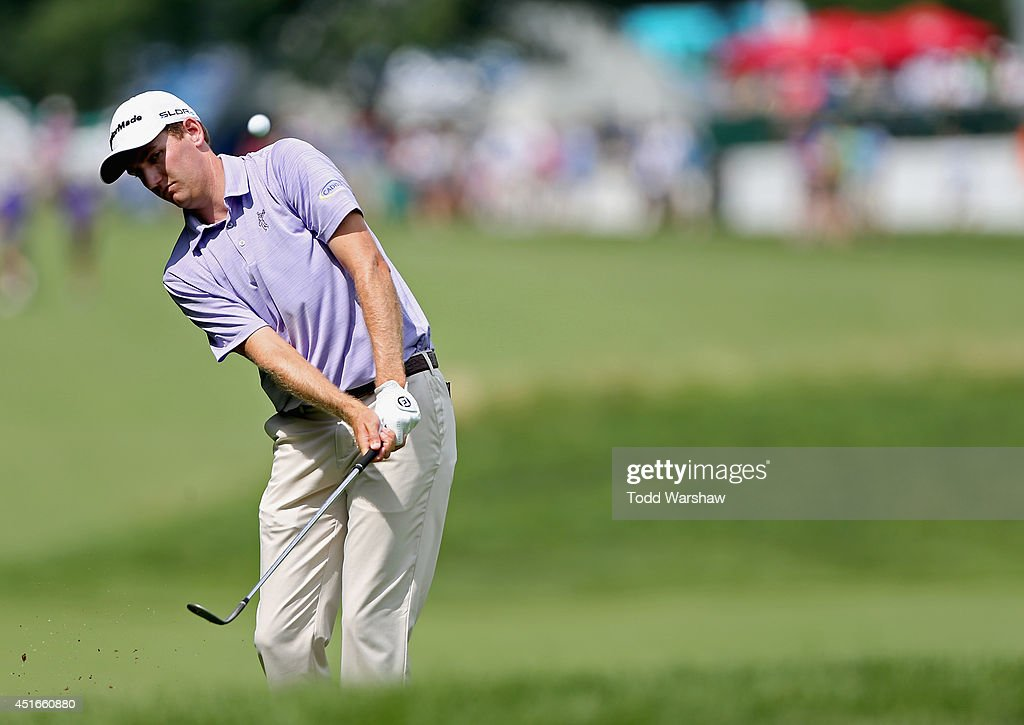 <a gi-track='captionPersonalityLinkClicked' href=/galleries/search?phrase=Brendon+Todd&family=editorial&specificpeople=4402026 ng-click='$event.stopPropagation()'>Brendon Todd</a> hits a shot on the 12th fairway during the first round of the Greenbrier Classic at the Old White TPC on July 3, 2014 in White Sulphur Springs, West Virginia.