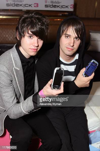 Brendon Urie and Jon Walker of Panic at the Disco at T Mobile