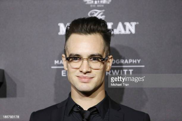 Brendon Urie of Panic at the Disco arrives at the debut of the 4th Edition of The Macallan Masters of Photography series by Elliott Erwitt held at...