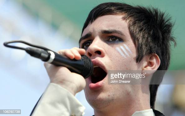 Brendon Urie of Panic At The Disco during Live 105's 'BFD' Concert 2006 at Shoreline Amphitheatre in Mountain View California United States