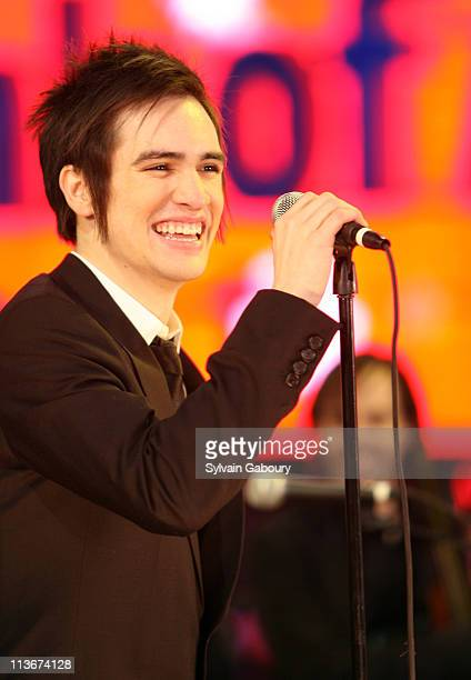 Brendon Urie of Panic at the Disco during NBC's New Year's Eve 2007 with Carson Daly Panic at the Disco Performance at Times Square in New York City...