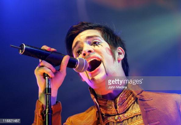 Brendon Urie of Panic At the Disco during Panic At the Disco in Concert at HP Pavilion December 5 2006 at HP Pavilion in San Jose California United...