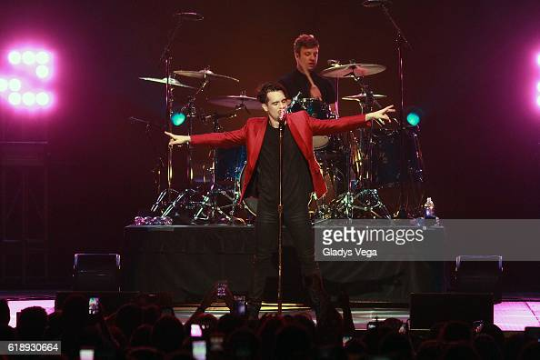 Brendon Urie of Panic At The Disco performs at Coliseo Jose M Agrelot on October 28 2016 in San Juan Puerto Rico