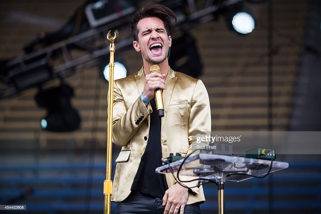 Brendan Urie of Panic at the Disco performs at the Bumbershoot Music and Arts Festival on August 30, 2014 in Seattle, Washington.