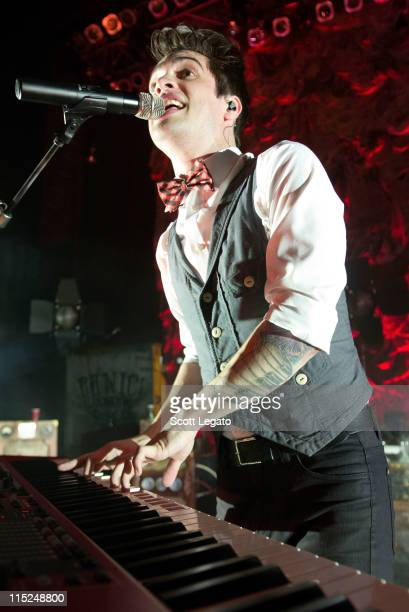 Brendon Urie of Panic At The Disco performs at The Filmore on June 4 2011 in Detroit Michigan
