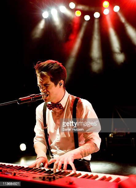 Brendon Urie of Panic At The Disco performs at the Shepherds Bush Empire on May 4 2011 in London England