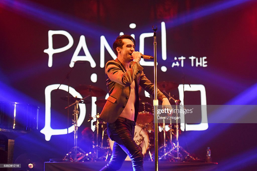 Brendon Urie of Panic! at the Disco performs during day 2 of BBC Radio 1's Big Weekend at Powderham Castle on May 29, 2016 in Exeter, England.