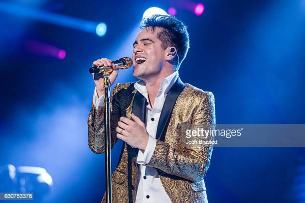 Brendon Urie of Panic At the Disco performs during the 2016 Allstate Sugar Bowl Fan Fest in the Jax Brewery Parking Lot on December 31 2016 in New...