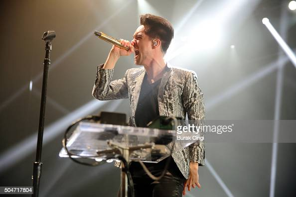 Brendon Urie of Panic at the Disco performs live on stage at O2 Academy Brixton on January 12 2016 in London England
