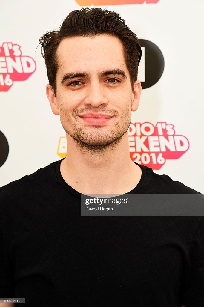 <a gi-track='captionPersonalityLinkClicked' href=/galleries/search?phrase=Brendon+Urie&family=editorial&specificpeople=542276 ng-click='$event.stopPropagation()'>Brendon Urie</a> of Panic! at the Disco poses for a photo during day 2 of BBC Radio 1's Big Weekend at Powderham Castle on May 29, 2016 in Exeter, England.