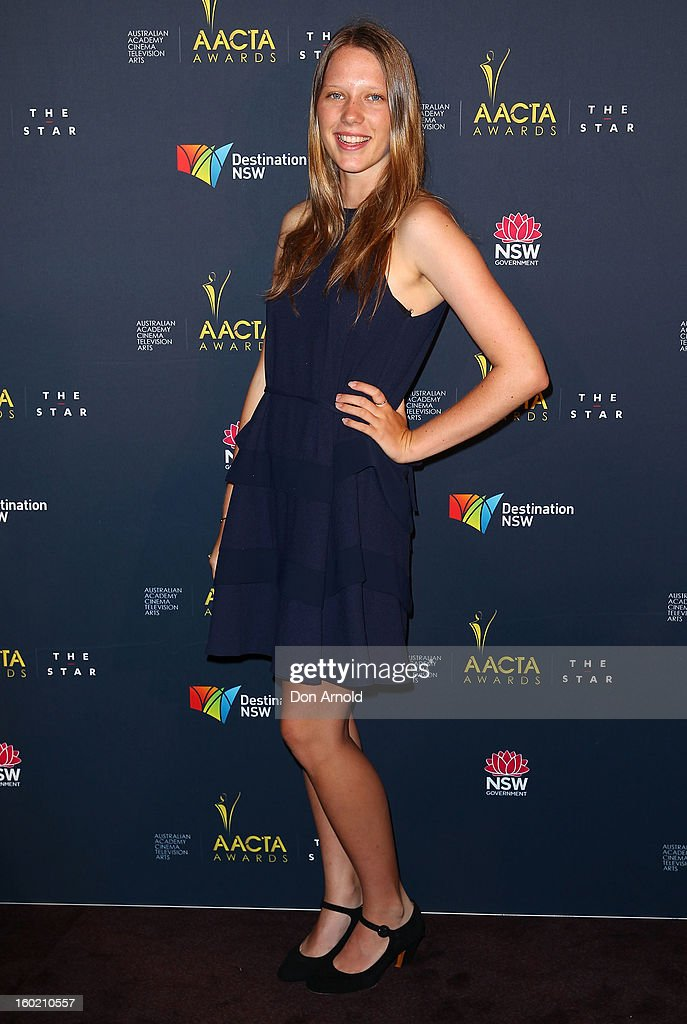 Brenna Harding poses during the 2nd Annual AACTA Awards Luncheon at The Star on January 28, 2013 in Sydney, Australia.