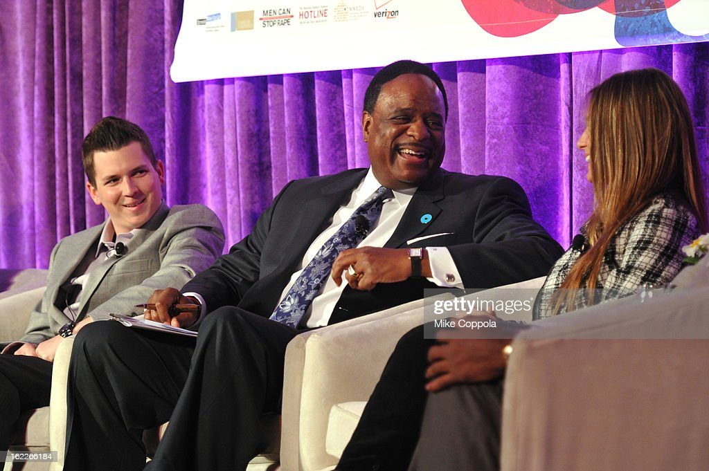 Brennan Poole, James Brown and Wynser Poole attend the A Day To Connect, Inspire And Heal Summit on February 21, 2013 in New York City.