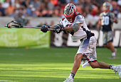 Brent Adams of the Gladiators shoots against the Cowboys on June 13 2015 during the 2015 MLL All Star Game at BBVA Stadium in Houston Texas...