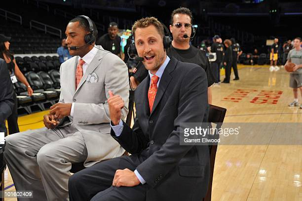Brent Barry of NBATV poses for the camera prior to the game of the Boston Celtics against the Los Angeles Lakers in Game One of the 2010 NBA Finals...