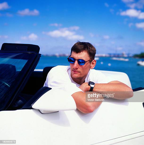 Brent Barry of the Miami Heat poses for a portrait at the Miami Arena in Miami Florida NOTE TO USER User expressly acknowledges and agrees that by...