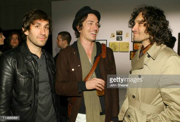 Brent Bolthouse Brandon Boyd and Vincent Gallo during Brian Bowen Smith Brent Bolthouse and Brandon Boyd Art and Photography Show at Quixote Studios...