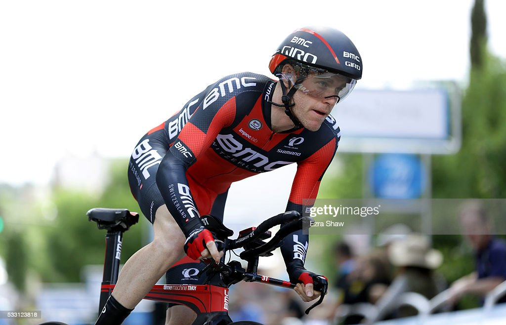 <a gi-track='captionPersonalityLinkClicked' href=/galleries/search?phrase=Brent+Bookwalter&family=editorial&specificpeople=6931494 ng-click='$event.stopPropagation()'>Brent Bookwalter</a> of the United States riding for BMC Racing Team rides in the individual time trial during Stage 6 of the Amgen Tour of California on May 20, 2016 in Folsom, California.