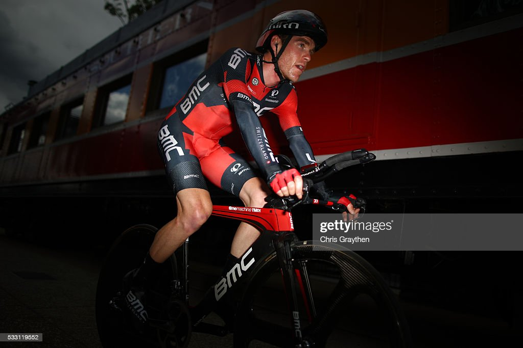 <a gi-track='captionPersonalityLinkClicked' href=/galleries/search?phrase=Brent+Bookwalter&family=editorial&specificpeople=6931494 ng-click='$event.stopPropagation()'>Brent Bookwalter</a> of the United States riding for BMC Racing team rides to his team area after the stage six individual time trial of the Amgen Tour of California on May 20, 2016 in Folsom, California.
