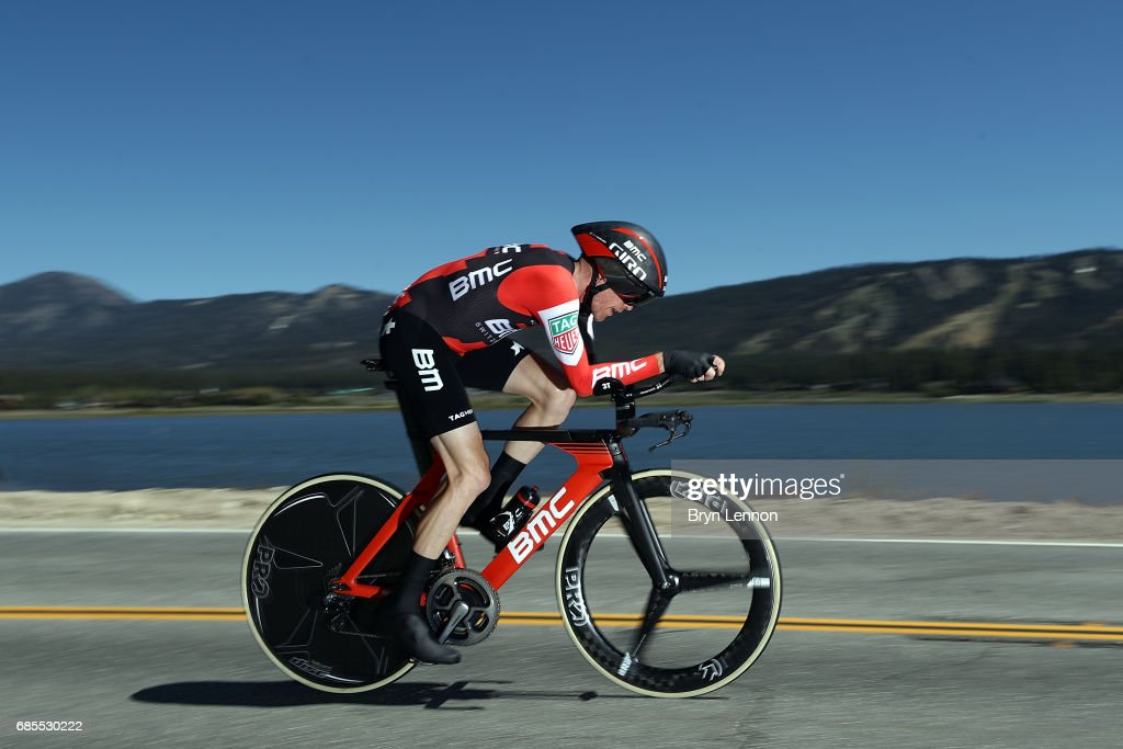 Brent Bookwalter of the USA and the BMC Racing Team in action during stage 6 of the AMGEN Tour of California, a 14.9 mile individual time trial around Big Bear Lake on May 19, 2017 in Big Bear Lake, California.