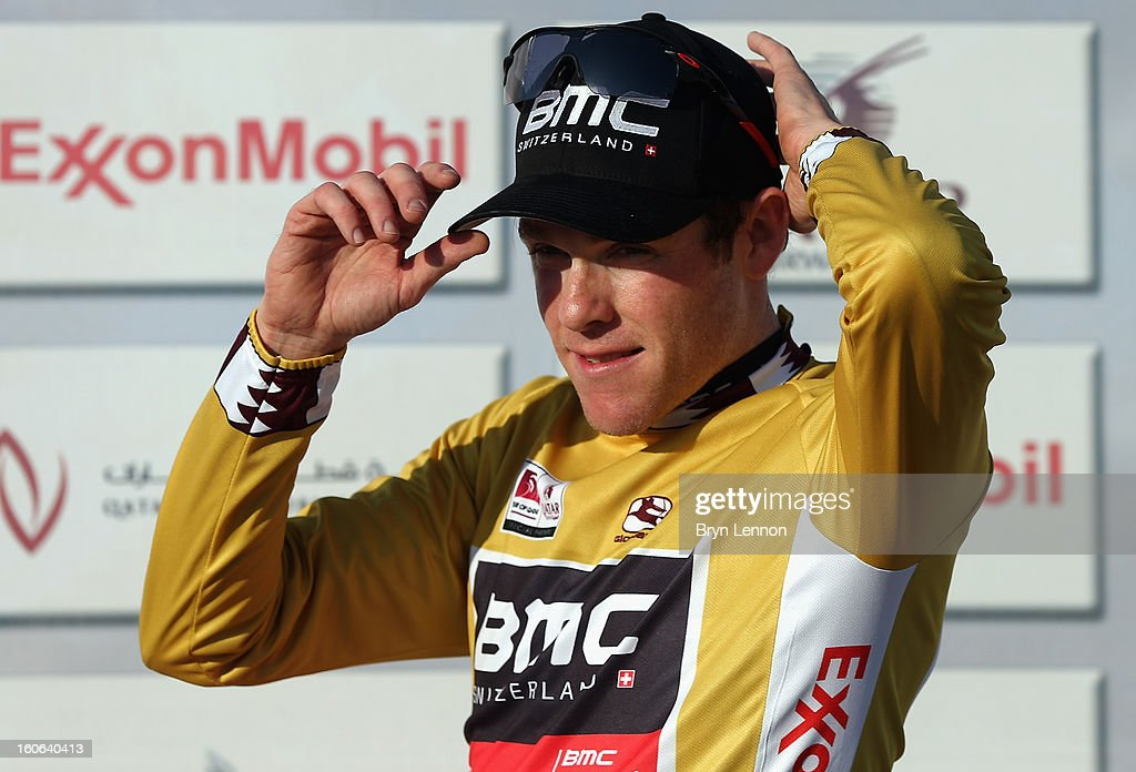Brent Bookwalter of the USA and the BMC Racing Team retained his race leaders jersey after stage two of the 2013 Tour of Qatar, a 14km Team Time Trial along Al Rufaa Street on February 4, 2013 in Doha, Qatar.