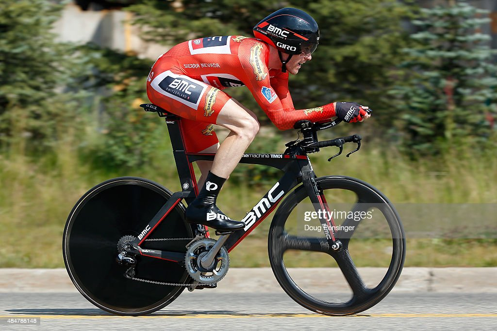 Brent Bookwalter of United States riding for BMC Racing races to third place in the individual time trial during stage five and second place in the general classification in the 2015 USA Pro Challenge on August 21, 2015 in Breckenridge, Colorado.