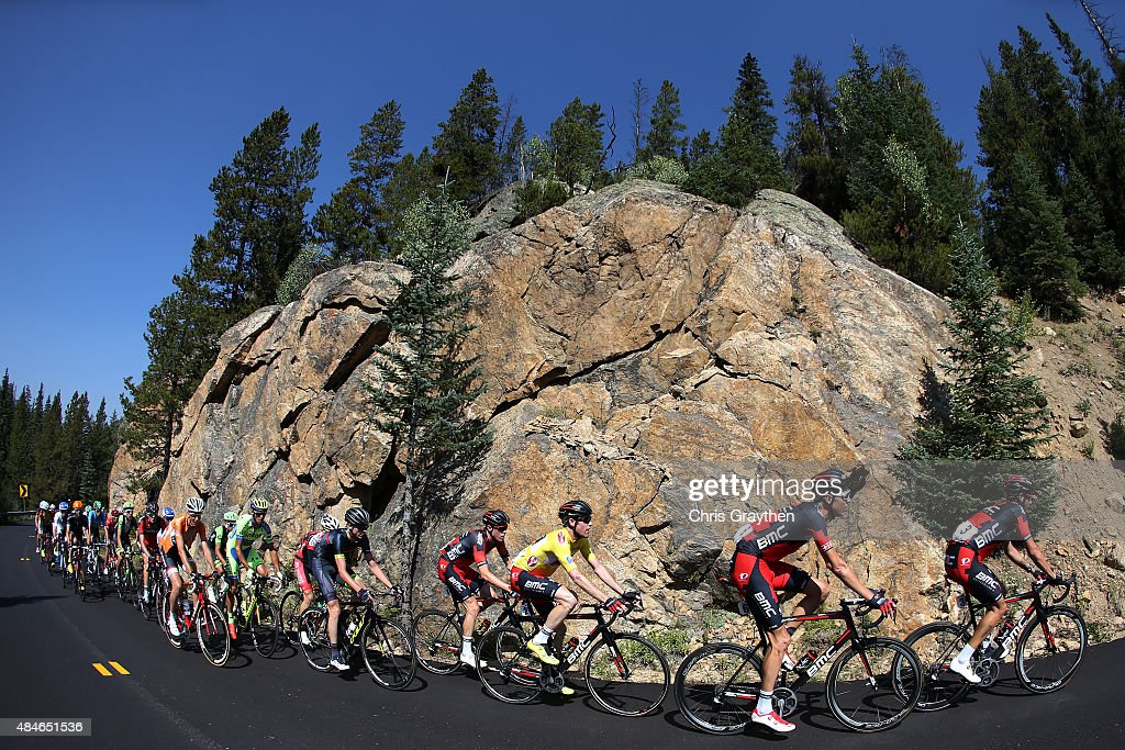 <a gi-track='captionPersonalityLinkClicked' href=/galleries/search?phrase=Brent+Bookwalter&family=editorial&specificpeople=6931494 ng-click='$event.stopPropagation()'>Brent Bookwalter</a> of United States riding for BMC Racing rides in the peloton during stage four of the USA Pro Challenge from Aspen to Breckenridge on August 20, 2015 in Aspen, Colorado.