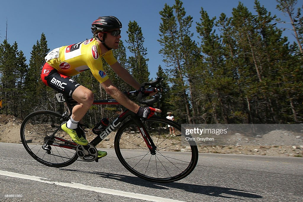 Brent Bookwalter of United States riding for BMC Racing rides in the peloton during stage four of the USA Pro Challenge from Aspen to Breckenridge on August 20, 2015 in Aspen, Colorado.