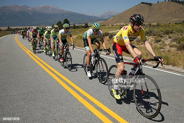 Brent Bookwalter of United States riding for BMC Racing rides in the peloton during stage four of the USA Pro Challenge from Aspen to Breckenridge on...