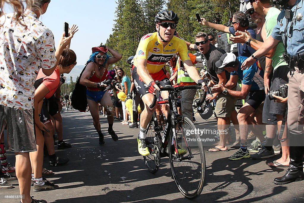 Brent Bookwalter of United States riding for BMC Racing rides up the Moonstone pass during stage four of the USA Pro Challenge from Aspen to...