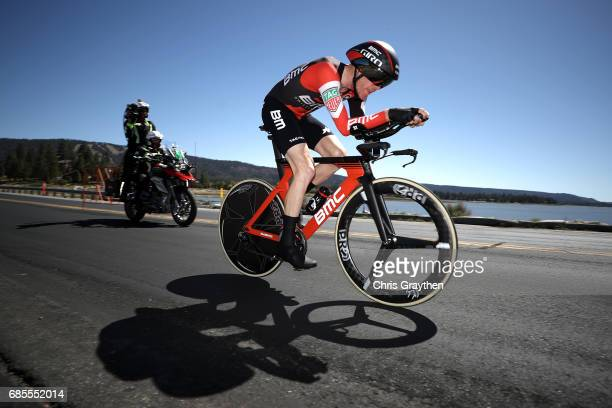 Brent Bookwalter of United States riding for BMC Racing Team rides during stage five of the AMGEN Tour of California from Ontario to Mt Baldy on May...