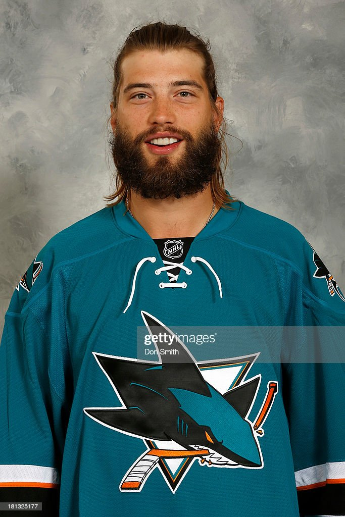 <a gi-track='captionPersonalityLinkClicked' href=/galleries/search?phrase=Brent+Burns&family=editorial&specificpeople=212883 ng-click='$event.stopPropagation()'>Brent Burns</a> of the San Jose Sharks poses for his official headshot for the 2013-14 season on September 11, 2013 at SAP Center in San Jose, California.