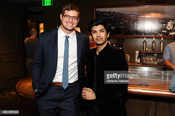 Brent Celek and Amar Singh attend REVISIT Launch Party on April 3 2014 in Los Angeles California