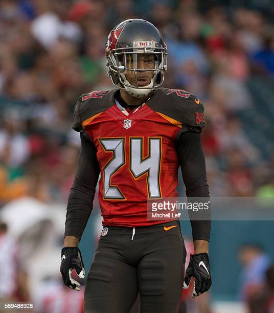 Brent Grimes of the Tampa Bay Buccaneers plays against the Philadelphia Eagles at Lincoln Financial Field on August 11 2016 in Philadelphia...