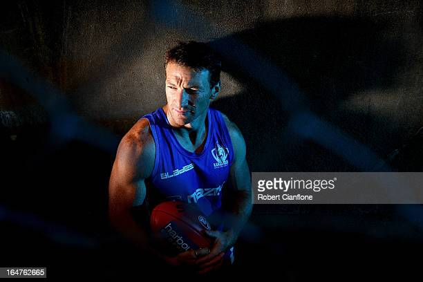 Brent Harvey of the Kangaroos poses during a North Melbourne AFL media session at Aegis Park on March 28 2013 in Melbourne Australia