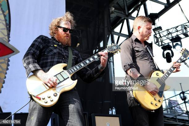 Brent Hinds and Bill Kelliher from Mastodon performs at Columbus Crew Stadium on May 18 2014 in Columbus Ohio