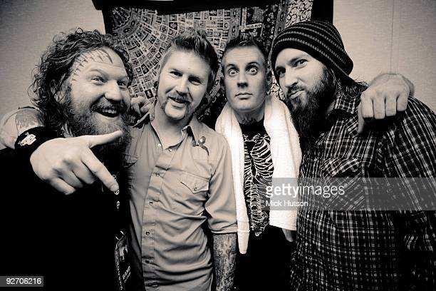 Brent Hinds Bill Kelliher Brann Dailor and Troy Sanders of Mastodon pose backstage for a group portrait at the Masquerade during the Scion Rock...