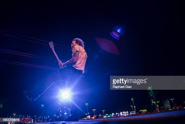 Brent Hinds from Mastodon performs at 2015 Rock in Rio on September 25 2015 in Rio de Janeiro Brazil