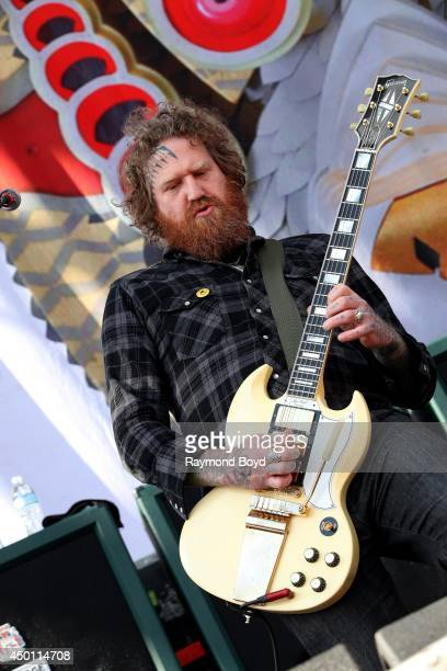 Brent Hinds from Mastodon performs at Columbus Crew Stadium on May 18 2014 in Columbus Ohio