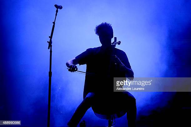Brent Kutzle from OneRepublic performs at 2015 Rock in Rio on September 18 2015 in Rio de Janeiro Brazil