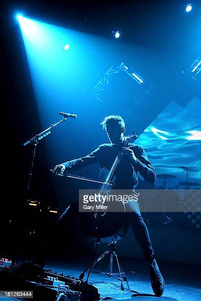 Brent Kutzle performs in concert with OneRepublic at ACL Live on September 19 2013 in Austin Texas