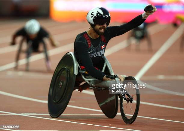 Brent Lakatos of Canada compete in Men's 400m T53 Final during IPC World Para Athletics Championships at London Stadium in London on July 18 2017