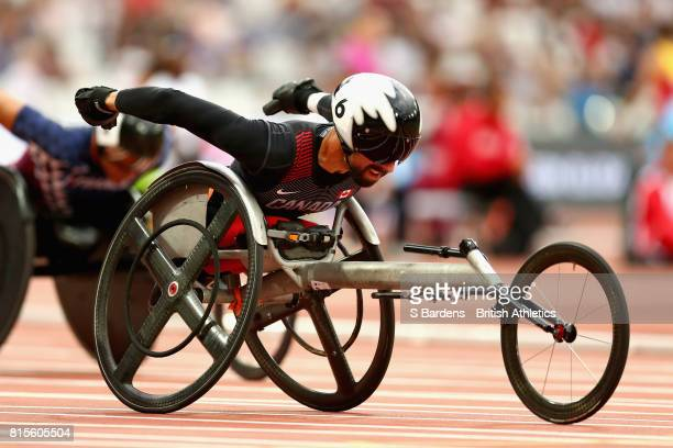 Brent Lakatos of Canada competes in the Men's 200m T53 Final during Day Three of the IPC World ParaAthletics Championships 2017 London at London...