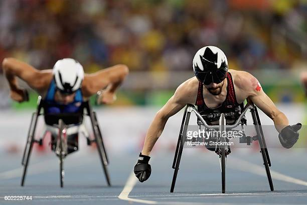 Brent Lakatos of Canada competes in the men's 400 meter T53 at Olympic Stadium during day 3 of the Rio 2016 Paralympic Games on September 10 2016 in...