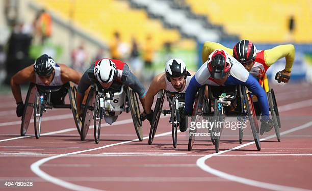Brent Lakatos of Canada competes in the men's 800m T53 heats during the Morning Session on Day Eight of the IPC Athletics World Championships at...