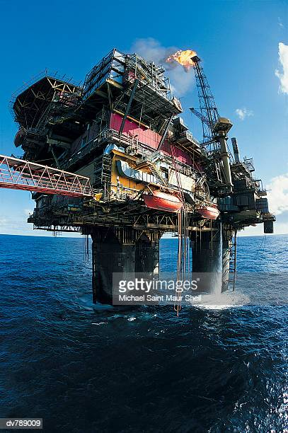 Brent Oil field, Production Platforms, North Sea, UK