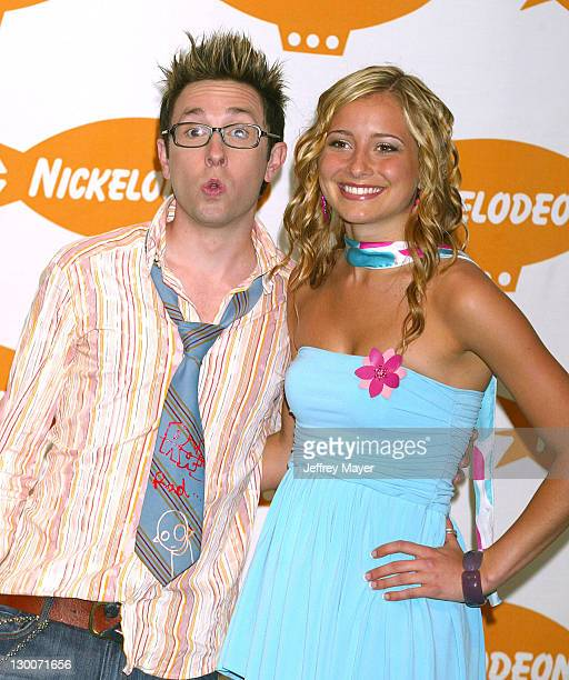 Brent Popolicio and Candace Bailey during Nickelodeon's 16th Annual Kids' Choice Awards 2003 Press Room at Barker Hanger in Santa Monica California...