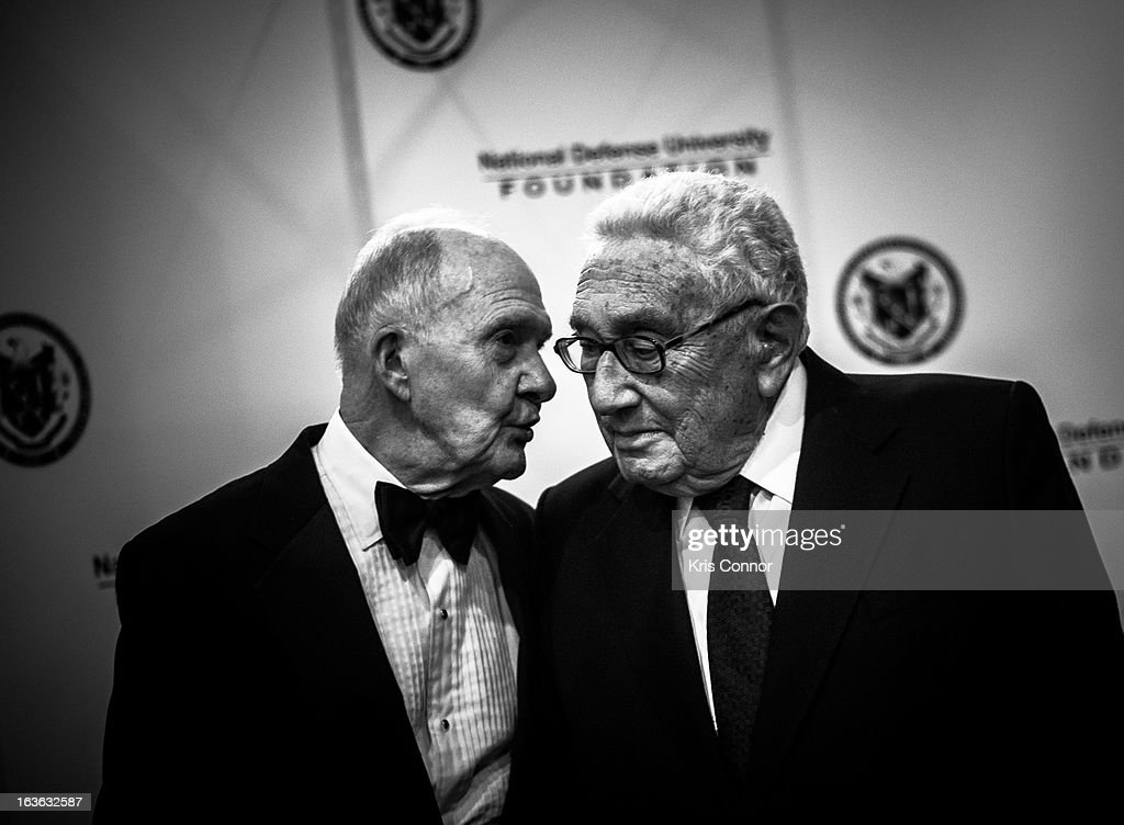 <a gi-track='captionPersonalityLinkClicked' href=/galleries/search?phrase=Brent+Scowcroft&family=editorial&specificpeople=202236 ng-click='$event.stopPropagation()'>Brent Scowcroft</a> and <a gi-track='captionPersonalityLinkClicked' href=/galleries/search?phrase=Henry+Kissinger&family=editorial&specificpeople=154883 ng-click='$event.stopPropagation()'>Henry Kissinger</a> attend the National Defense University Foundation's International Statesman and Business Advocate Award Presentation at the Ritz-Carlton Hotel on March 13, 2013 in Washington, DC.