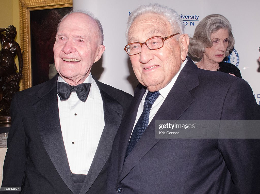 <a gi-track='captionPersonalityLinkClicked' href=/galleries/search?phrase=Brent+Scowcroft&family=editorial&specificpeople=202236 ng-click='$event.stopPropagation()'>Brent Scowcroft</a> and <a gi-track='captionPersonalityLinkClicked' href=/galleries/search?phrase=Henry+Kissinger&family=editorial&specificpeople=154883 ng-click='$event.stopPropagation()'>Henry Kissinger</a> attendsthe National Defense University Foundation's International Statesman and Business Advocate Award Presentation at the Ritz-Carlton Hotel on March 13, 2013 in Washington, DC.
