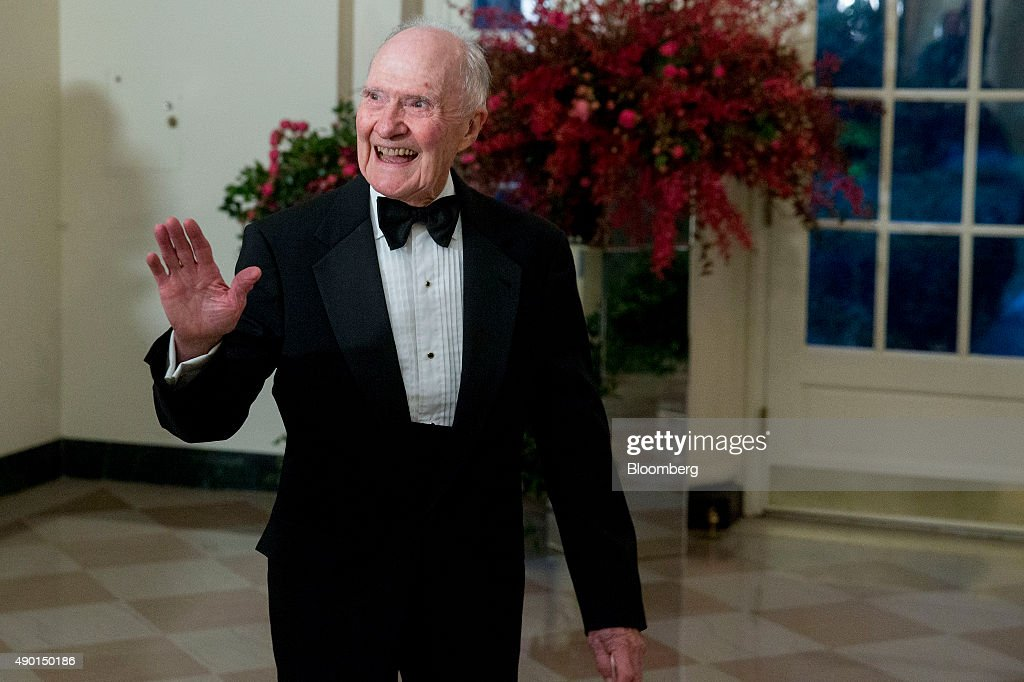 <a gi-track='captionPersonalityLinkClicked' href=/galleries/search?phrase=Brent+Scowcroft&family=editorial&specificpeople=202236 ng-click='$event.stopPropagation()'>Brent Scowcroft</a>, former national security advisor, arrives at a state dinner in honor of Chinese President Xi Jinping at the White House in Washington, D.C., U.S., on Friday, Sept. 25, 2015. The U.S. and China announced agreement on broad anti-hacking principles aimed at stopping the theft of corporate trade secrets though President Barack Obama pointedly said he has not ruled out invoking sanctions for violators. Photographer: Andrew Harrer/Bloomberg via Getty Images