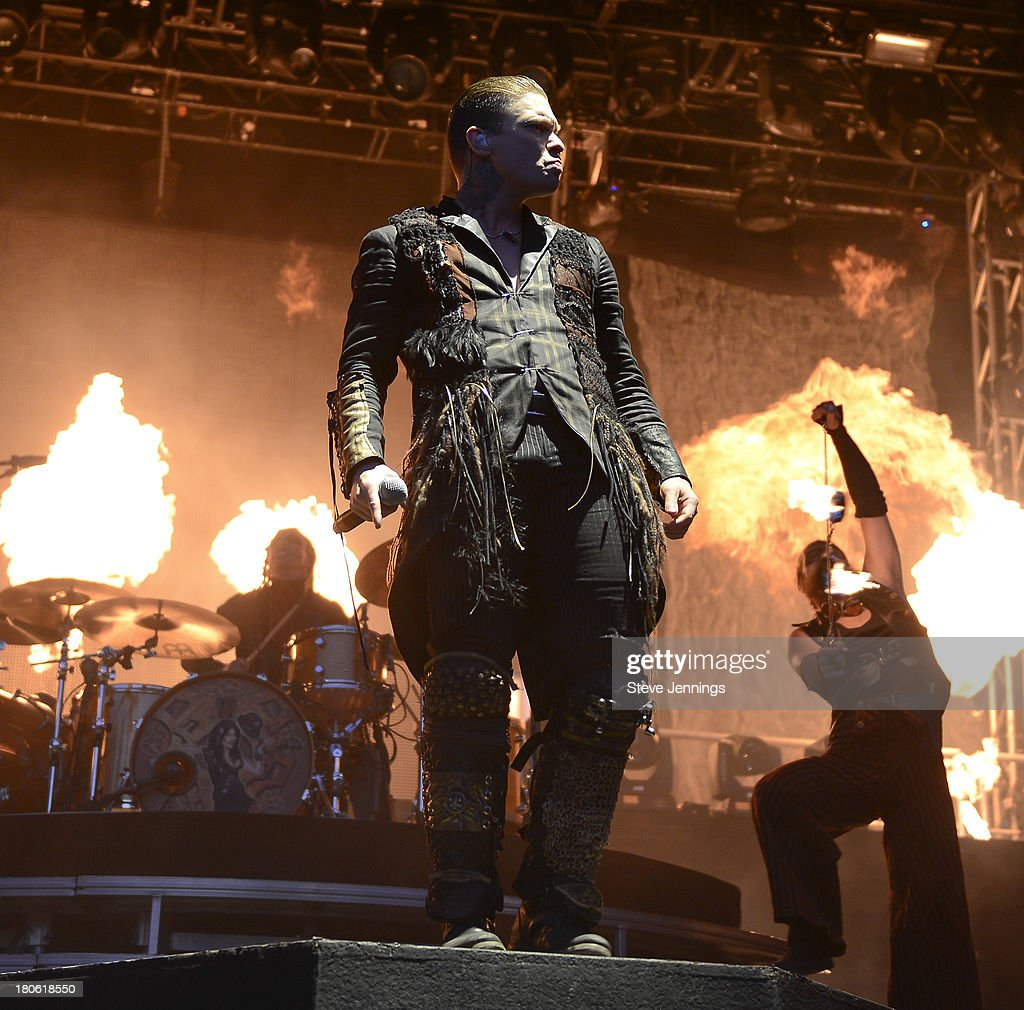 Brent Smith of Shinedown performs on Day 1 of Monster Energy Aftershock Festival at Discovery Park on September 14, 2013 in Sacramento, California.